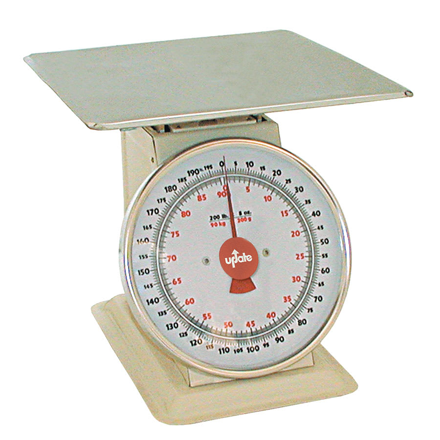 "Update UP-11200 11"" Fixed Dial Scale - 200 lb Capacity, 8 oz Graduations"