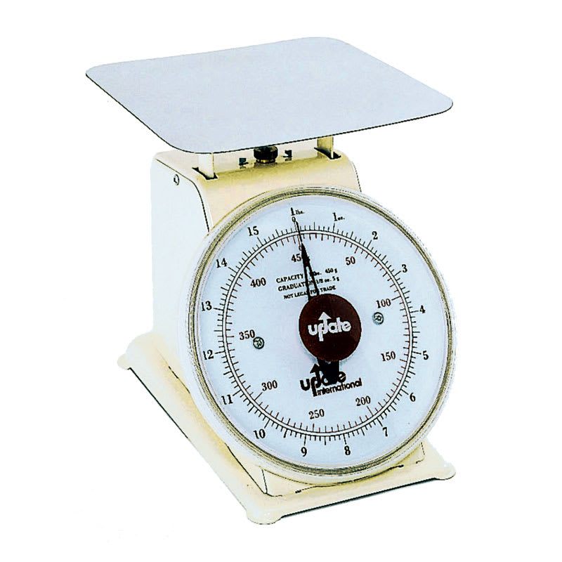 "Update UP-71 7"" Fixed Dial Scale - 10-lb Capacity, 1/8-oz Graduations"