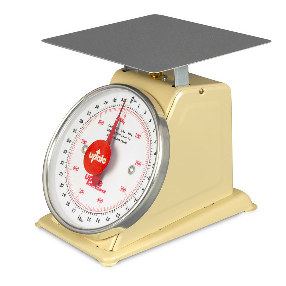 "Update UP-72 7"" Fixed Dial Scale - 2 lb Capacity, 1/4 oz Graduations"