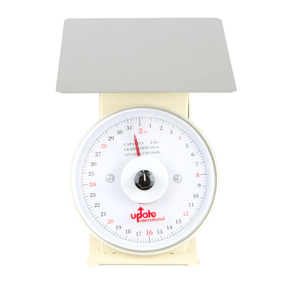 "Update UP-72R 7"" Rotating Dial Scale - 2-lb Capacity, 1/4-oz Graduations"