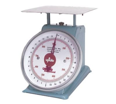 "Update UP-75 7"" Fixed Dial Scale - 5 lb Capacity, 1/2 oz Graduations"