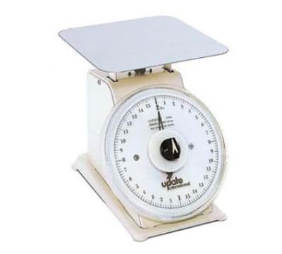 "Update UP-75R 7"" Rotating Dial Scale - 5 lb Capacity, 1/2 oz Graduations"