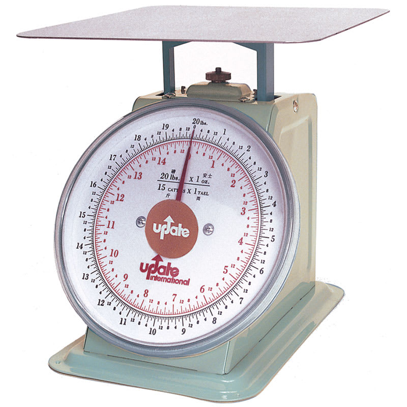 "Update UP-820 8"" Fixed Dial Scale - 20 lb Capacity, 1 oz Graduations"