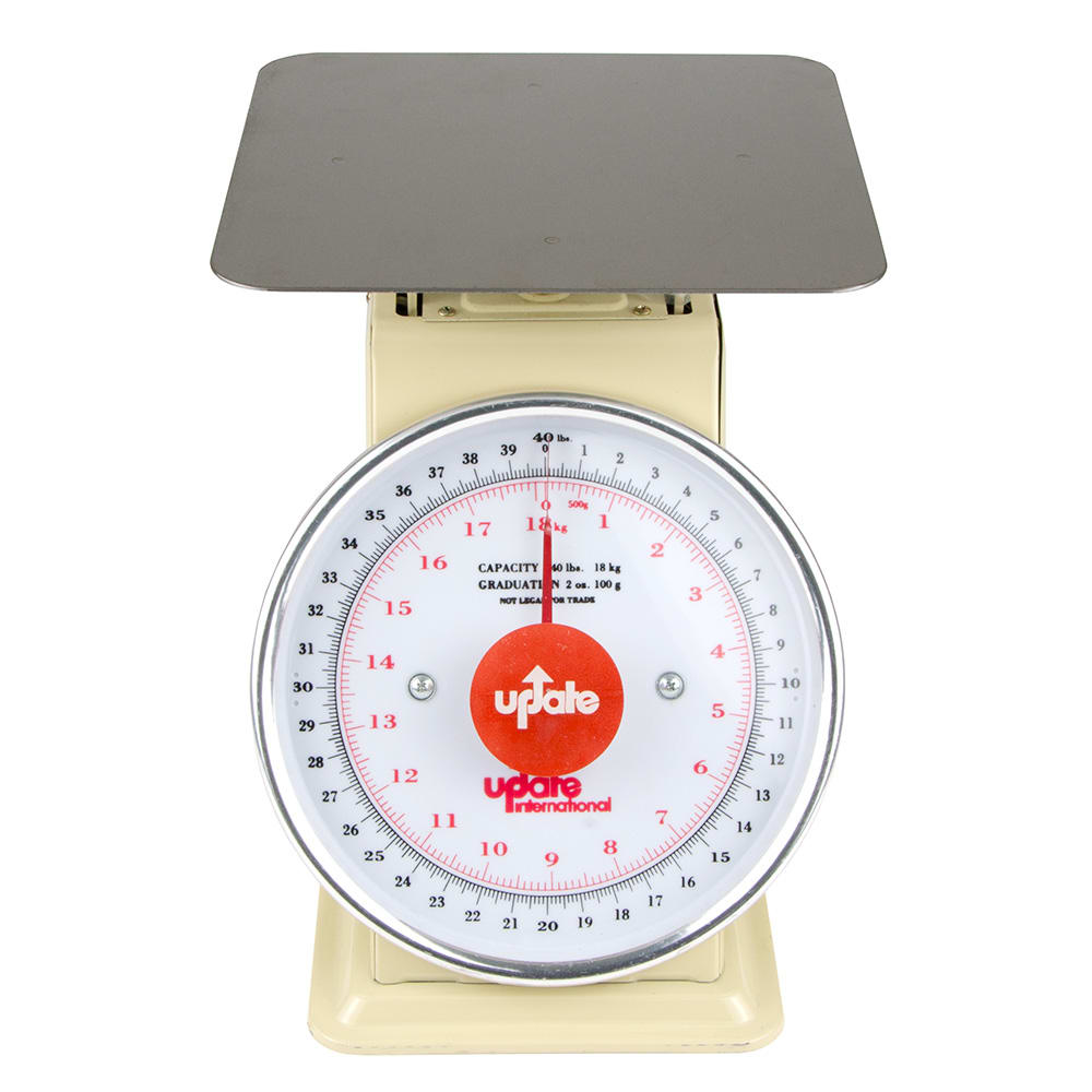 """Update UP-840 8"""" Fixed Dial Scale - 40 lb Capacity, 2 oz Graduations"""