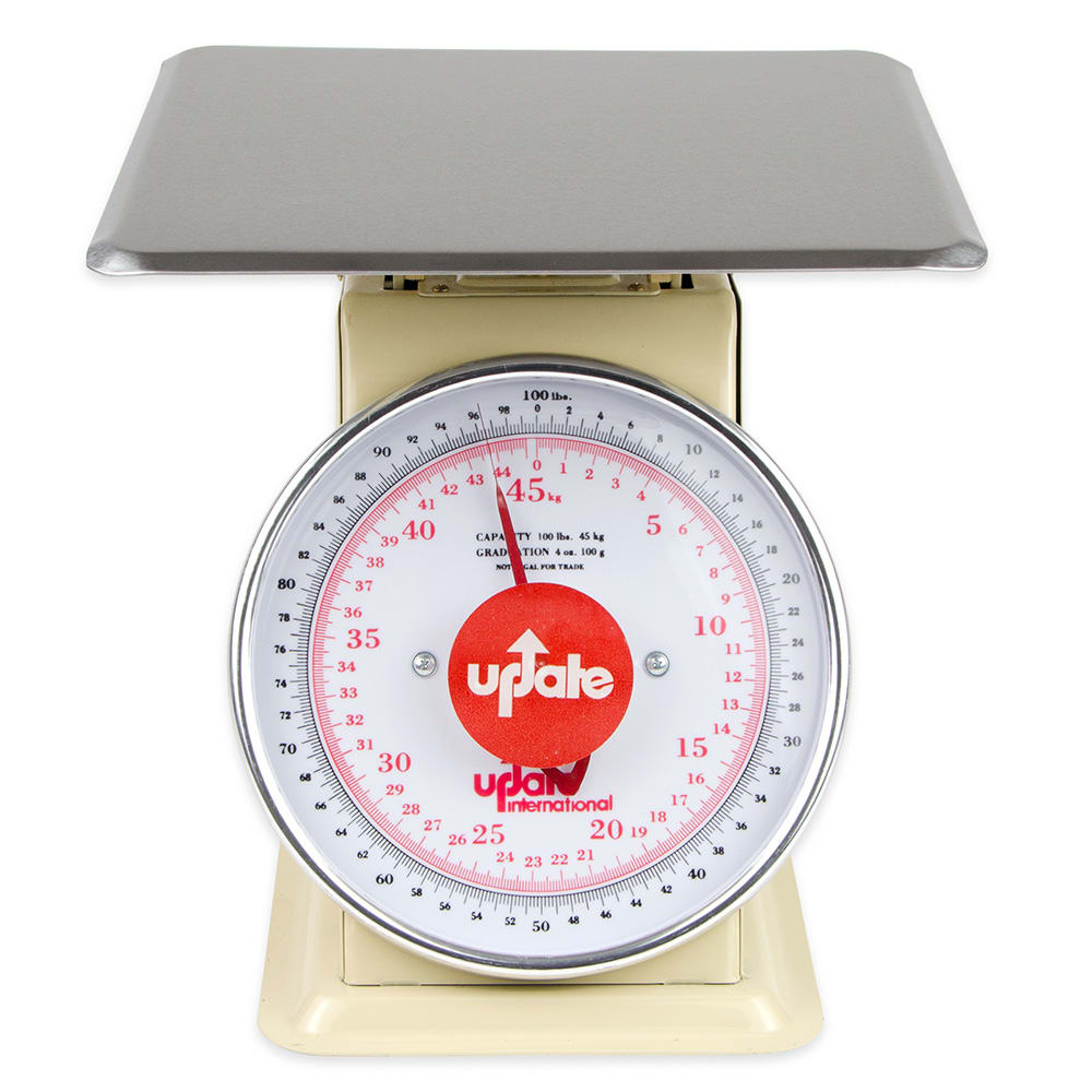 "Update UP-9100 9"" Fixed Dial Scale - 100-lb Capacity, 4-oz Graduations"