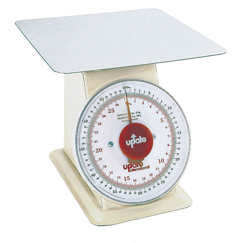 "Update UP-960 9"" Fixed Dial Scale - 60 lb Capacity, 4 oz Graduations"