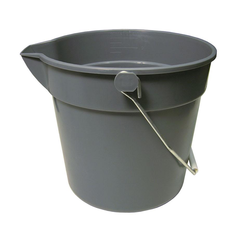 Update UPP-10 10 qt Utility Pail - Plastic, Gray