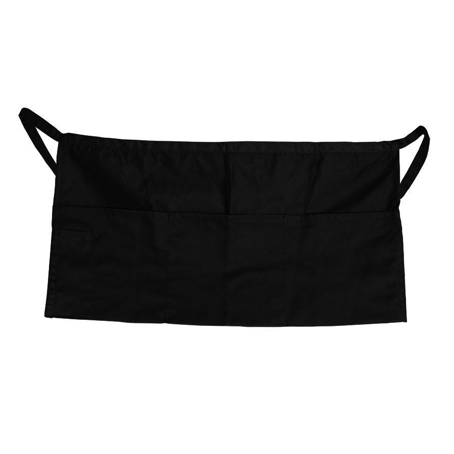 "Update WAP-BK 4 Pocket Waist Apron - 23x12"" Poly/Cotton, Black"