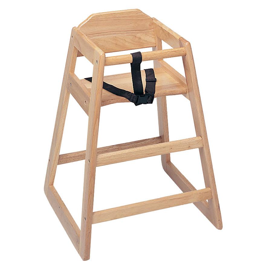 """Update WD-HC 30"""" Stackable High Chair w/ Waist Strap - Wood, Light"""