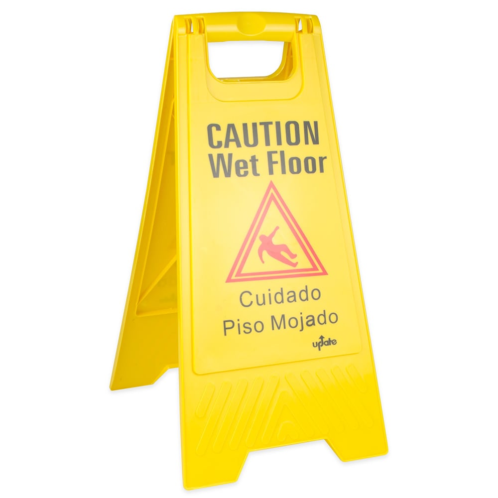 in progress robert warning cleaning scott floor wet sign