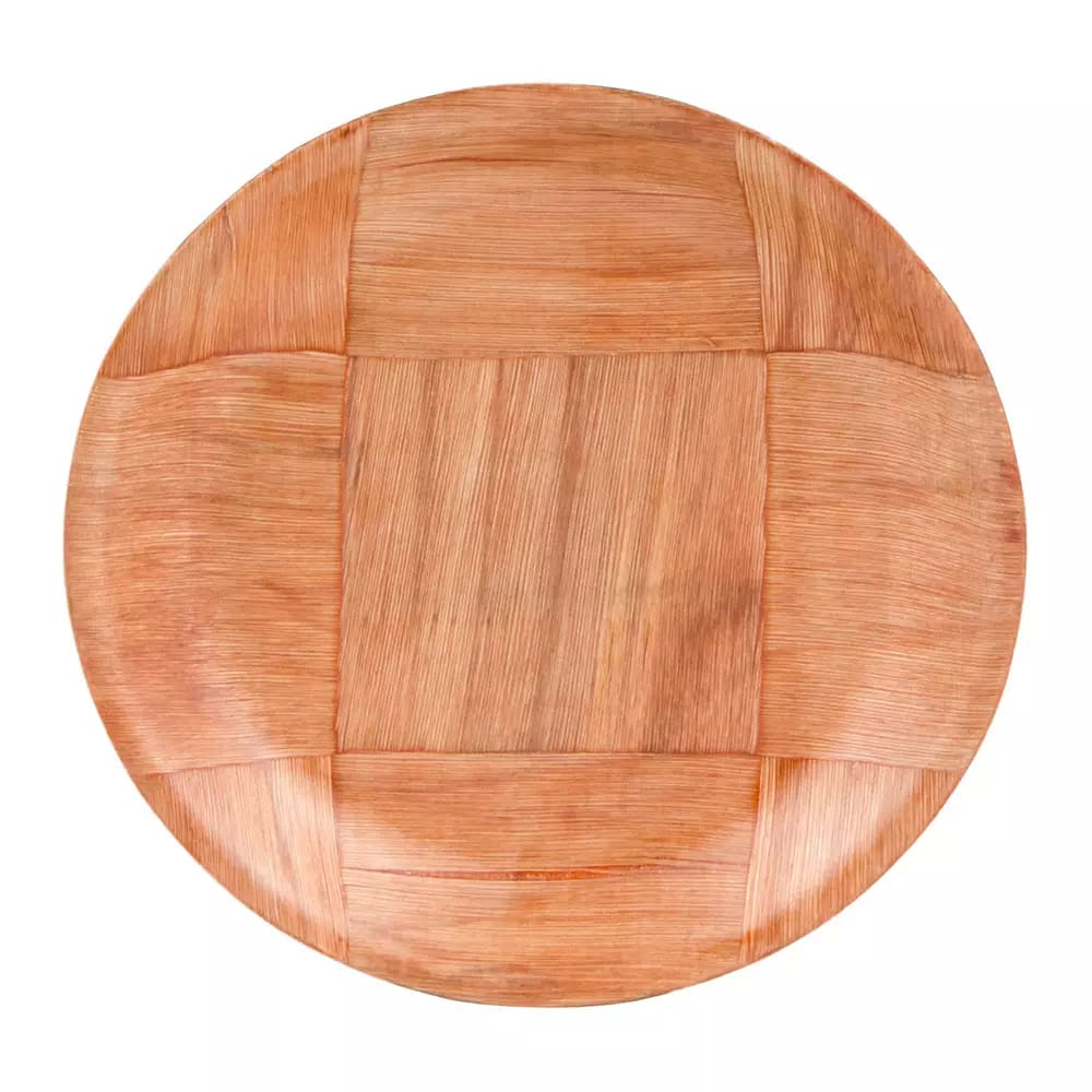"Update WRP-9 9"" Woven Wood Salad Plate"