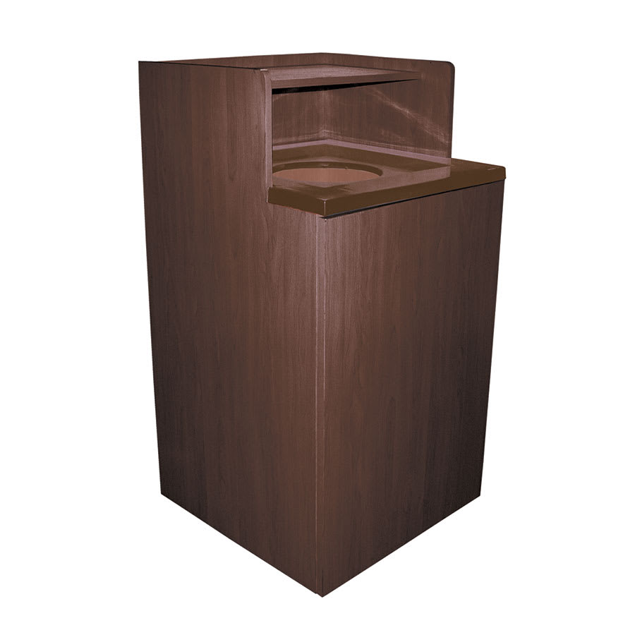 Update WRU-32 32 gal Indoor Decorative Trash Can - Wood, Walnut
