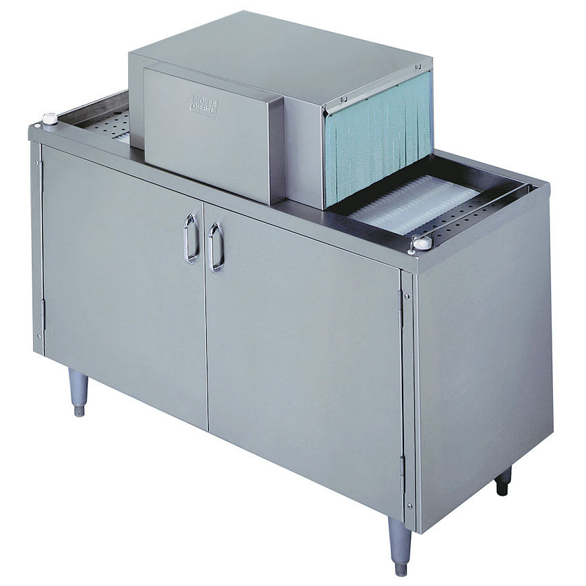 "Moyer Diebel SW400R 208501 Pass-Thru Type Glasswasher w/ 48"" Cabinet & Drain Tray, Export"