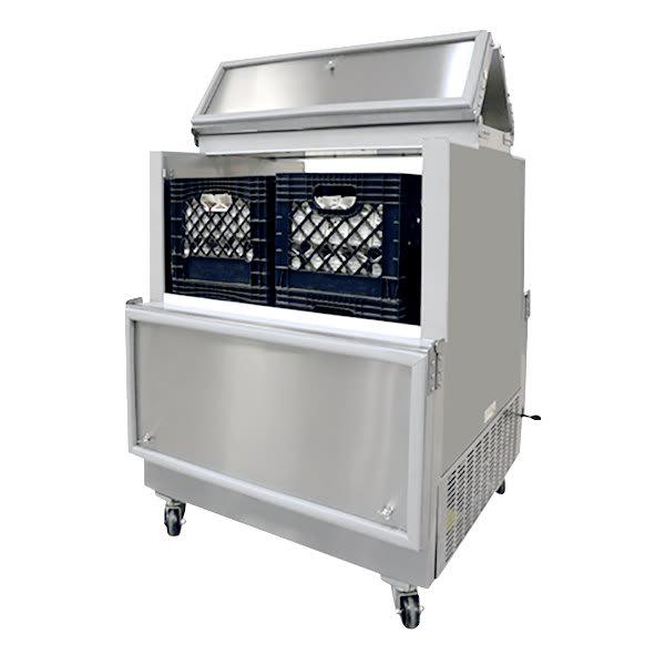Norlake AR084SSS/0-A Milk Cooler w/ Top & Side Access - (512) Half Pint Carton Capacity, 115v