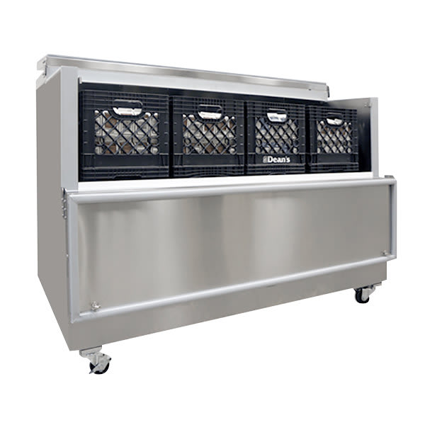 Norlake AR162SSS/0-A Milk Cooler w/ Top & Side Access - (1024) Half Pint Carton Capacity, 115v