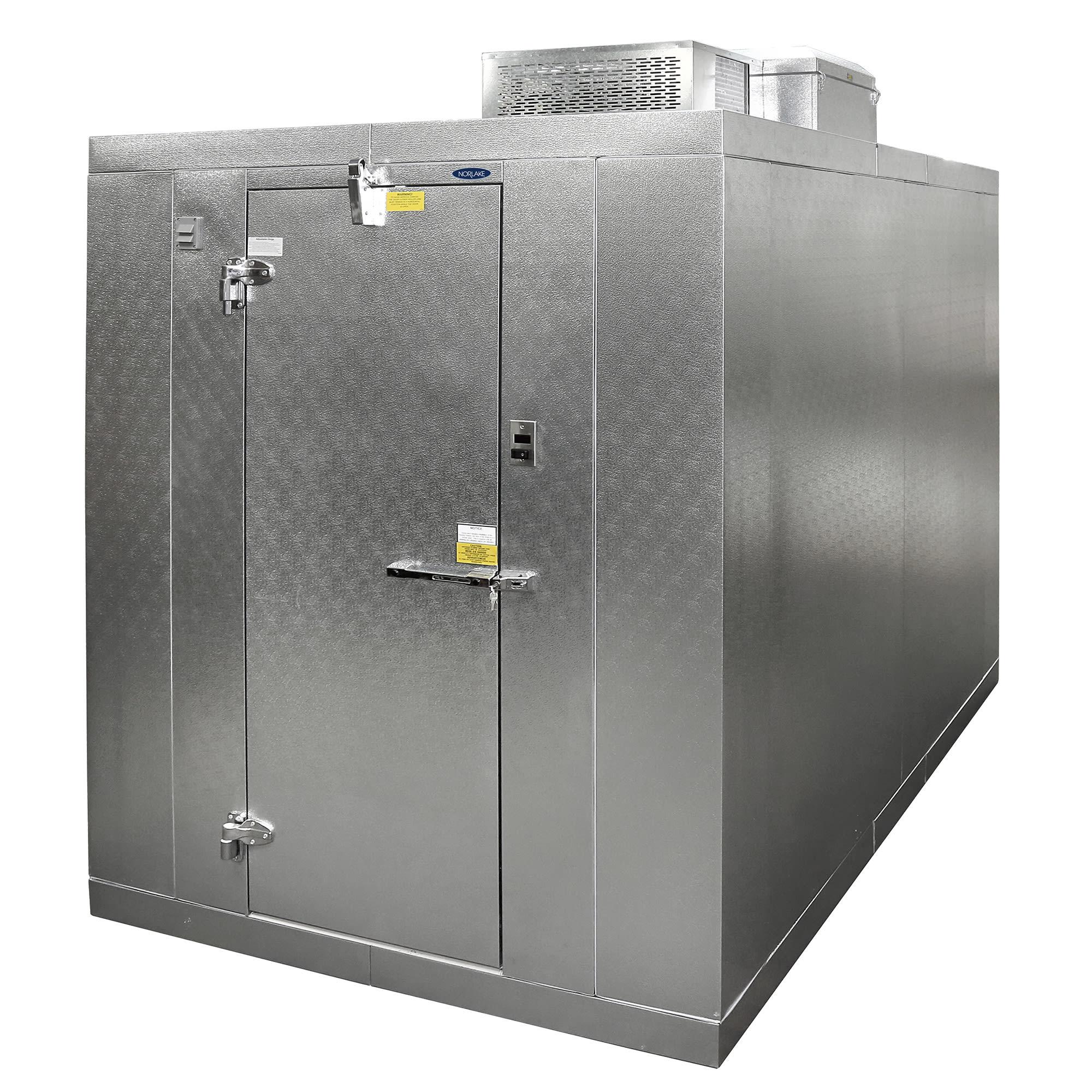 Norlake KLB7468-C R Indoor Walk-In Refrigerator w/ Top Mount Compressor, 6' x 8', No Floor