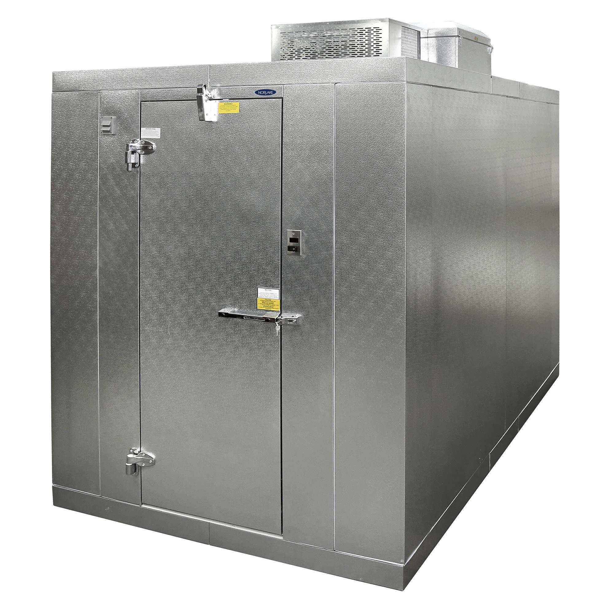 Norlake KLB74812-C L Indoor Walk-In Refrigerator w/ Top Mount Compressor, 8' x 12', No Floor