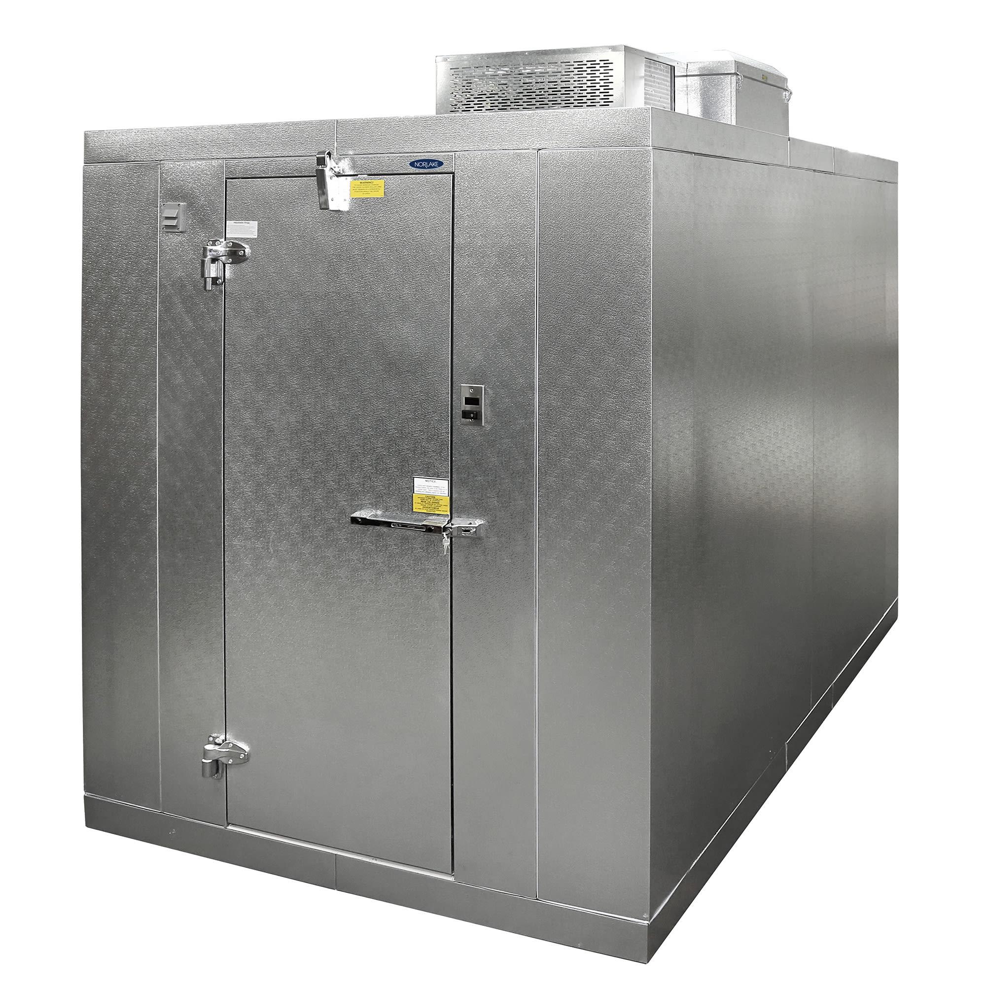 Norlake KLB74814-C Indoor Walk-In Refrigerator w/ Top Mount Compressor, 8' x 14', No Floor