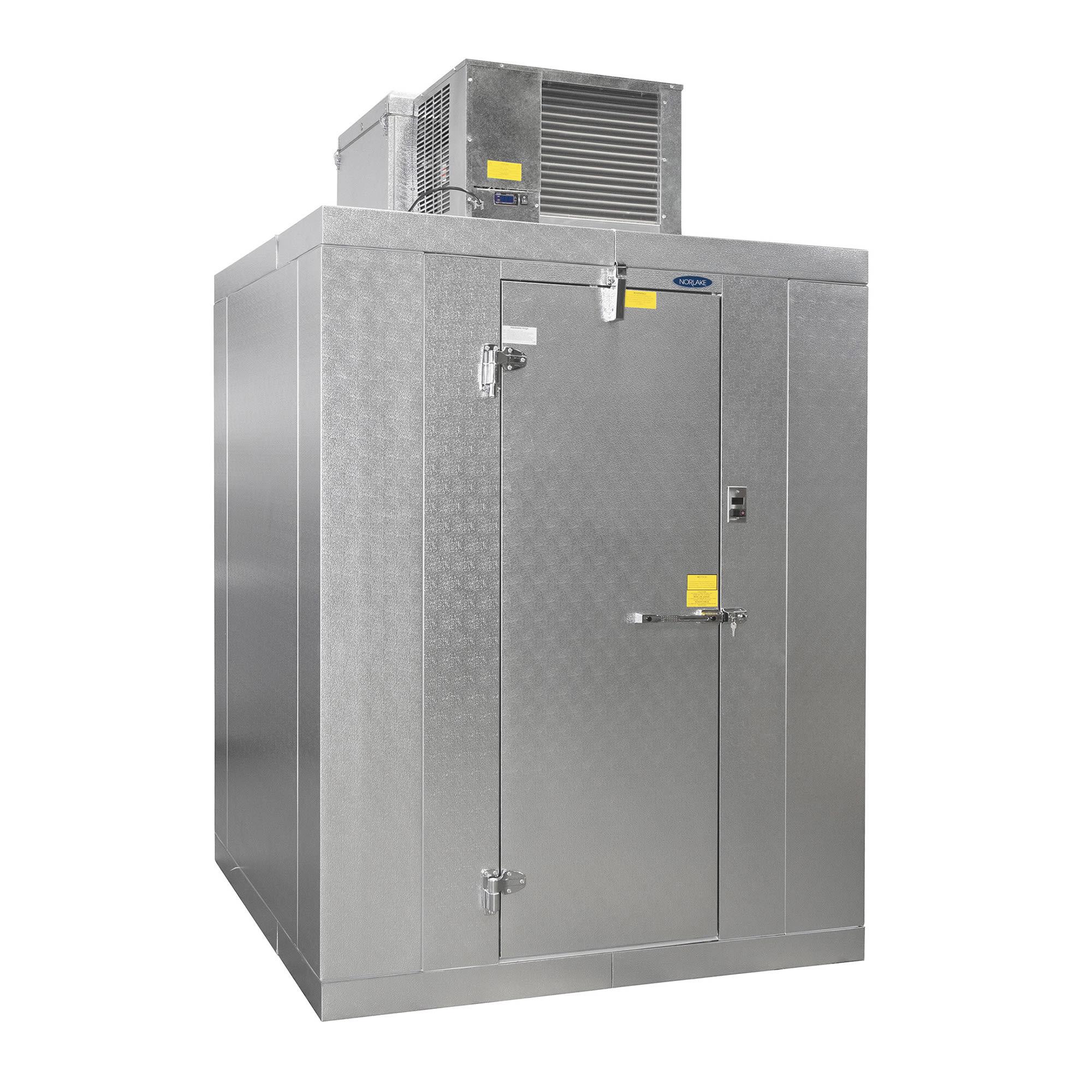 Norlake KLF7746-C R Indoor Walk-In Freezer w/ Top Mount Compressor, 4' x 6'
