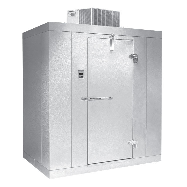 Norlake KLF7766-C L Indoor Walk-In Freezer w/ Top Mount Compressor, 6' x 6'