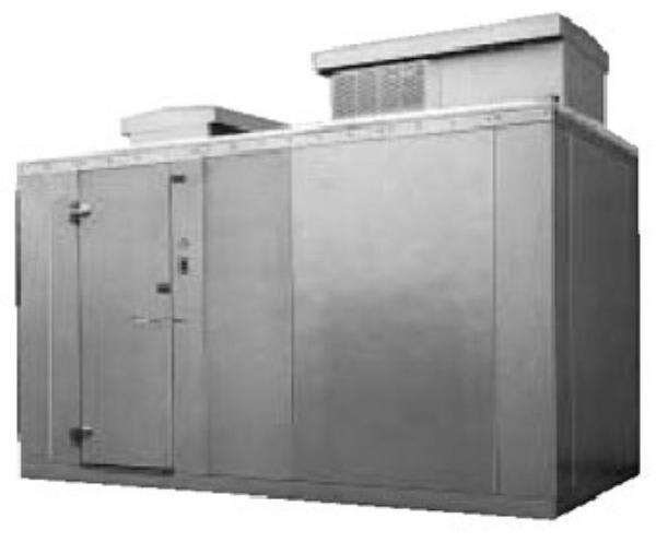 Norlake KODB7768-C L Outdoor Walk-In Refrigerator w/ Top Mount Compressor, 6' x 8'