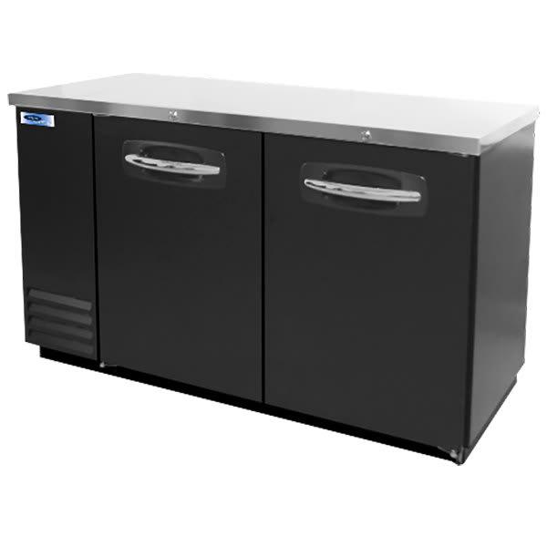 "Norlake NLBB59 59"" (2) Section Bar Refrigerator - Swinging Solid Doors, 115v"