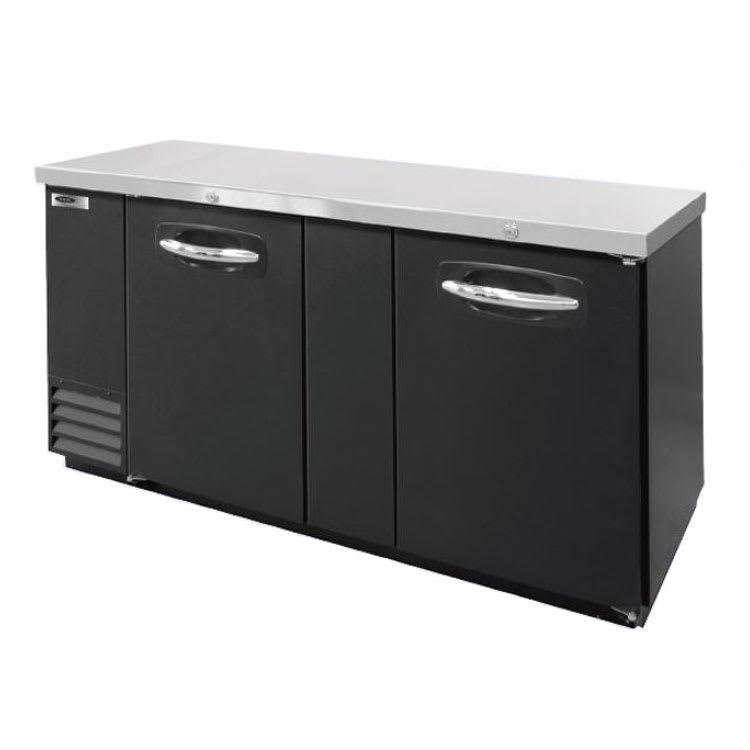 "Norlake NLBB69 69.13"" (2) Section Bar Refrigerator - Swinging Solid Doors, 115v"