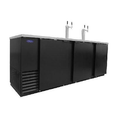 "Norlake NLDD95 95"" Draft Beer System w/ (5) Keg Capacity - (2) Columns, Black, 115v"