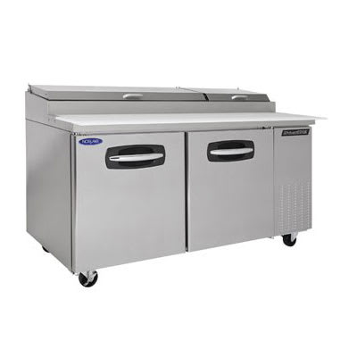 "Norlake NLPT67 67"" Pizza Prep Table w/ Refrigerated Base, 115v"