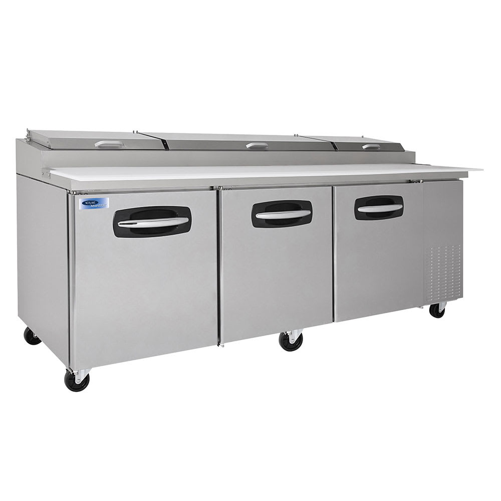 """Norlake NLPT93 93.3"""" Pizza Prep Table w/ Refrigerated Base, 115v"""