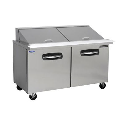 "Norlake NLSMP60-24A 60.38"" Sandwich/Salad Prep Table w/ Refrigerated Base, 115v"
