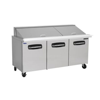 "Norlake NLSMP72-30A 72.38"" Sandwich/Salad Prep Table w/ Refrigerated Base, 115v"