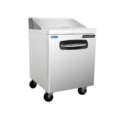 """Norlake NLSP27-8A 27.5"""" Sandwich/Salad Prep Table w/ Refrigerated Base, 115v"""