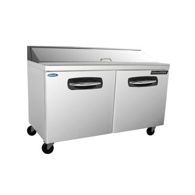 "Norlake NLSP60-16 60.38"" Sandwich/Salad Prep Table w/ Refrigerated Base, 115v"