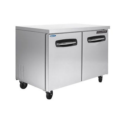 Norlake NLUR48 13-cu ft Undercounter Refrigeration w/ (2) Sections & (2) Doors, 115v