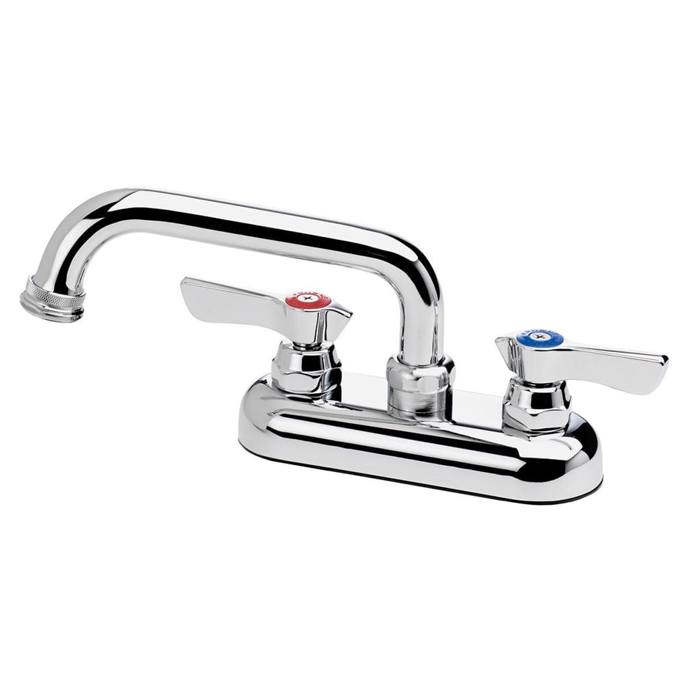 """Krowne 11-450L Deck Mount Laundry Faucet - 6"""" Swing Spout, 4"""" Centers, Low Lead"""
