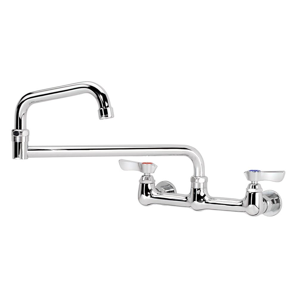 """Krowne 12-818L Splash Mount Faucet - 18"""" Jointed Spout, 8"""" Centers, Low Lead"""