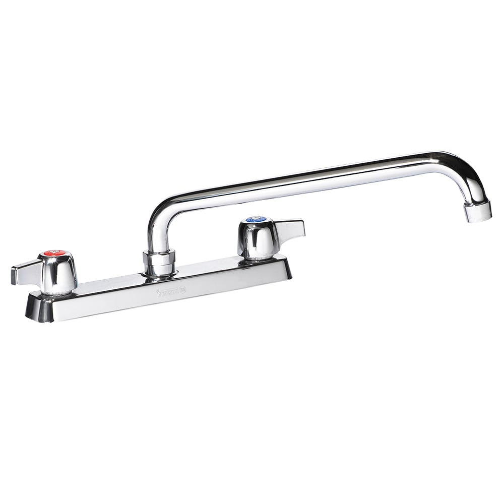 "Krowne 13-812L Deck Mount Faucet - 12"" Swing Spout, 8"" Centers, Low Lead"