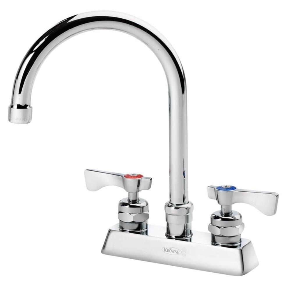 """Krowne 15-301L Low Lead Royal Series Faucet, 5"""" Wide, Deck Mount, 4"""" Center"""