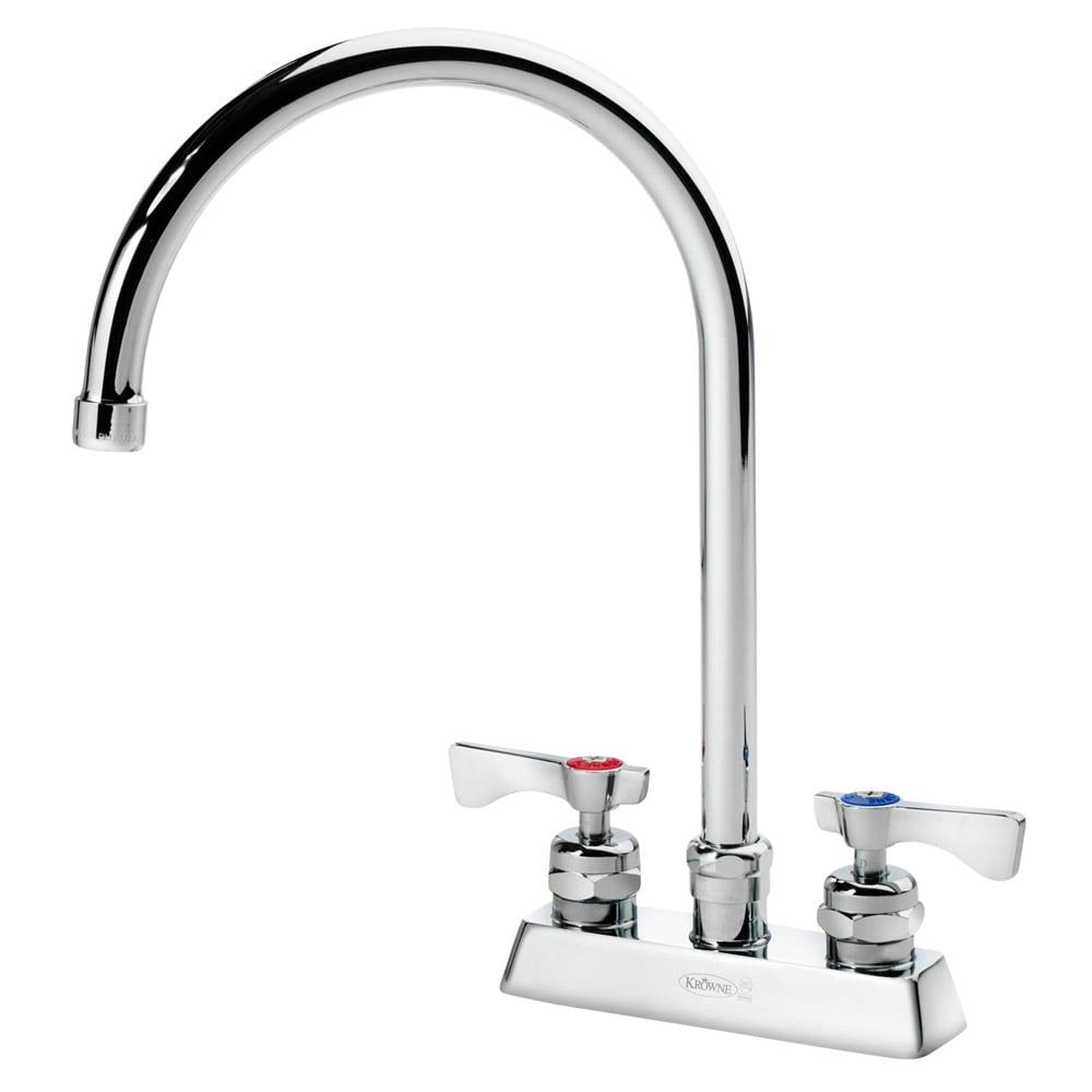 """Krowne 15-302L Low Lead Royal Series Deck Mount Faucet, 8-1/2"""" W, 4"""" Center"""