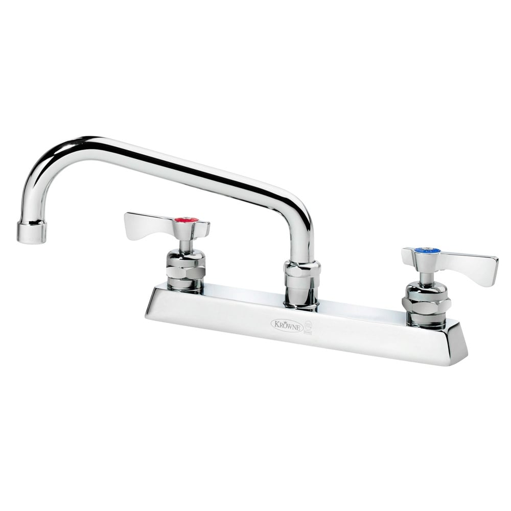 "Krowne 15-508L Low Lead Royal Series Faucet, Deck Mount, 8"" Long, Swing Nozzle"