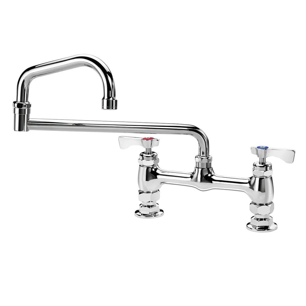 """Krowne 15-818L Low Lead Royal Series Faucet, 18"""" Long, Deck Mount, 8"""" Centers"""