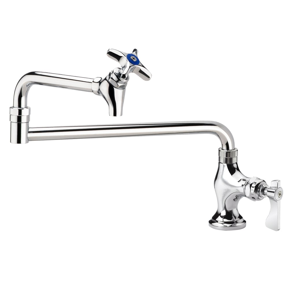 "Krowne 16-162L Deck Mounted Royal Series Pot Filler Faucet, 18"" Spout, Low Lead"