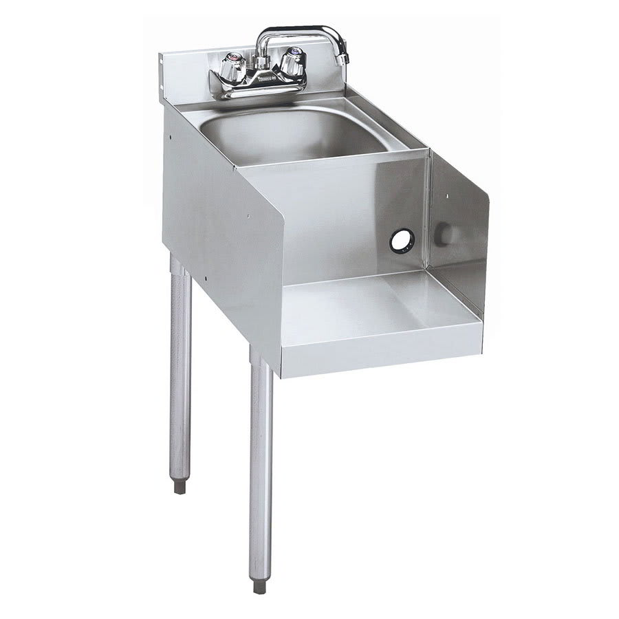 "Krowne 18-12BDL Blender Dump Sink Add-On - Splash Mount, 12x22.5"", Left Legs"