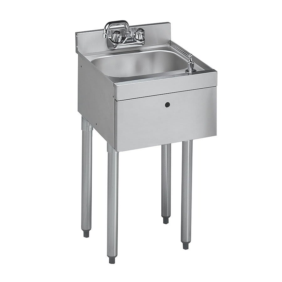 "Krowne 18-12DST 12"" 1-Compartment Sink w/ 14""W x 10""L Bowl, 7"" Deep"