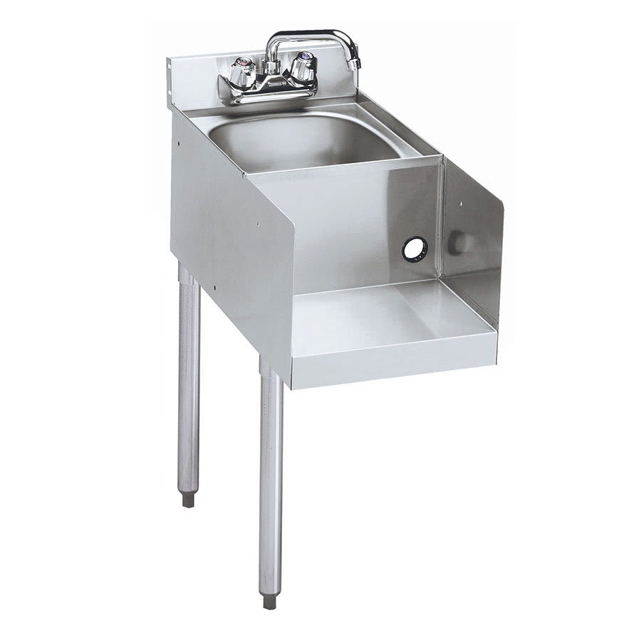 "Krowne 18-18BDL Blender/Liquid Dump Sink Add-On - Splash Mount, 18x22.5"", Left Legs"