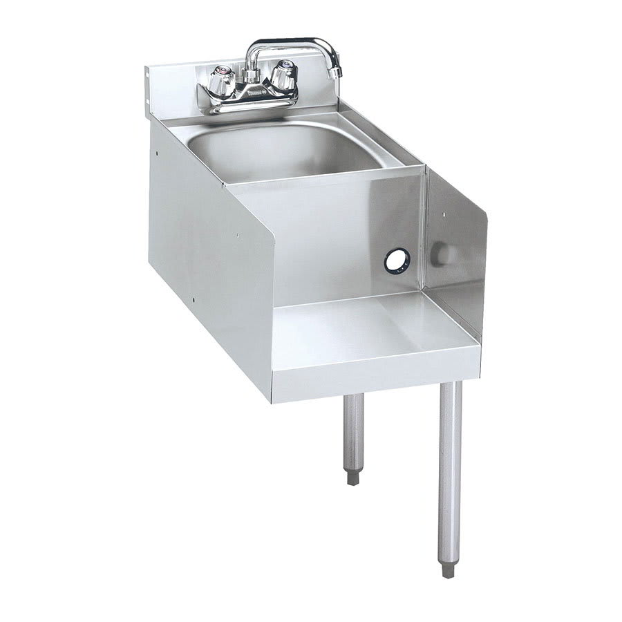 "Krowne 18-18BDR Blender/Liquid Dump Sink Add-On - Splash Mount, 18x22.5"", Right Legs"