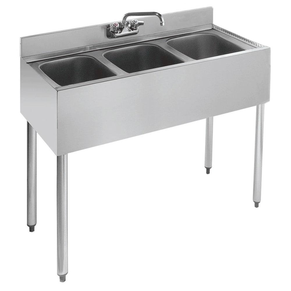 """Krowne 18-33 36"""" 3 Compartment Sink w/ 10""""W x 14""""L Bowl, 10"""" Deep"""