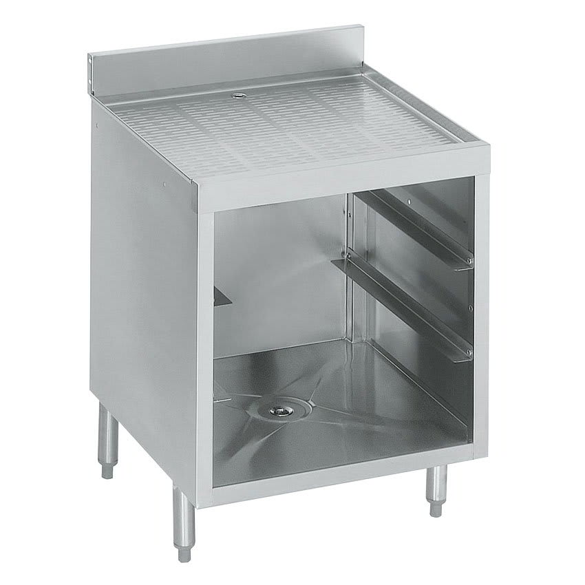 "Krowne 18-GSB1 Under Bar Glass Storage Cabinet - 3 Racks, 4"" Back Splash, 24x23.5"
