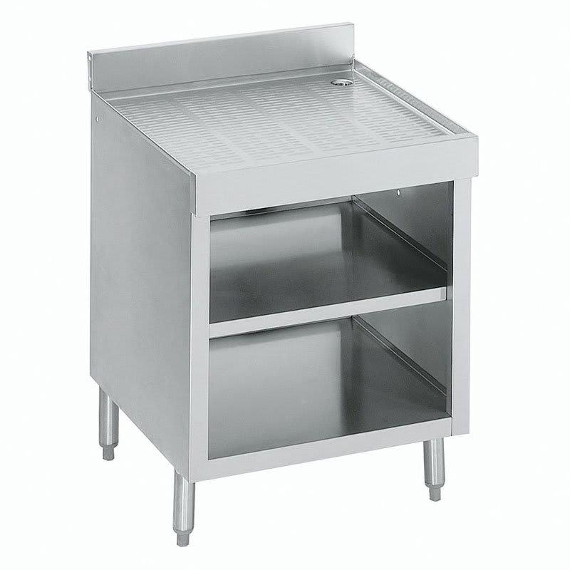 "Krowne 18-GSB3 Under Bar Glass Storage Cabinet - Open Front, 4"" Back Splash, 24x23.5"